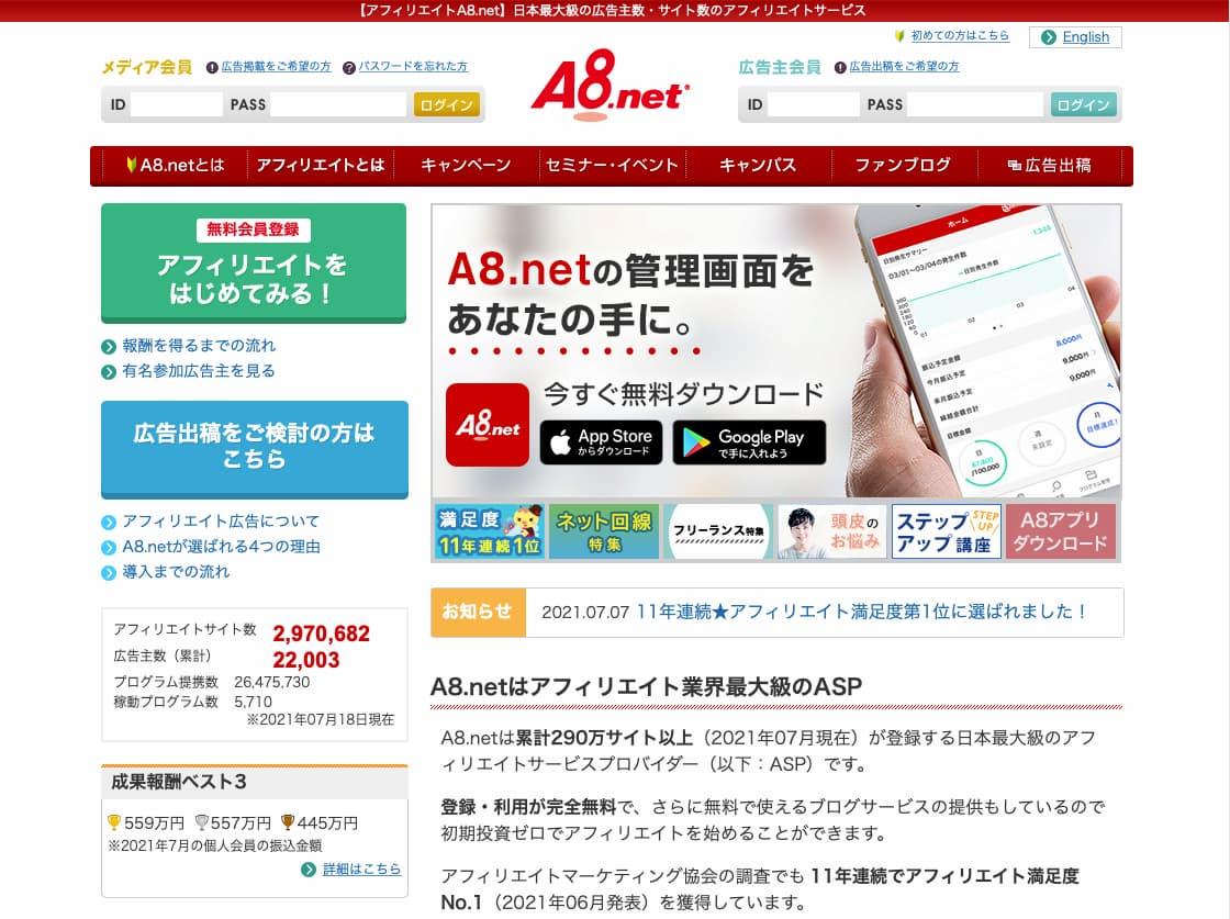 ASP最大手A8.net